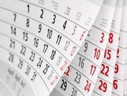 Datas das Conferências de Adolescentes e Jovens e das Conferências Internacionais na EAV no biênio 2018-2019