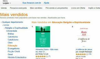 Alimento Diário é o mais vendido da categoria no Amazon.com.br