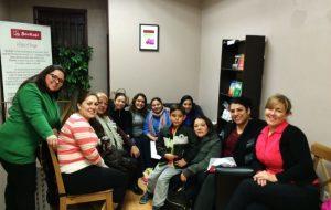 Chá de mulheres no BooKafé em Toronto, Canadá