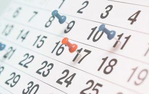 Calendário das conferências 2018 / 2019