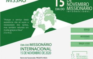 DIA DO MISSIONÁRIO INTERNACIONAL
