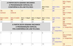CONFERÊNCIA INTERNACIONAL (CI) ON-LINE DE FEVEREIRO 2021