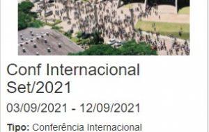 Conf Set/2021 – INSCRIÇÕES ABERTAS