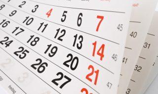 Calendário das Conferências e Comunhões em 2018