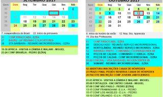 Calendário Região 8B