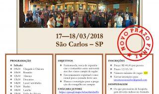 NOVO PRAZO FINAL – Convite para o 2º Encontro de Universitários da Região 8B – 17-18/03/2018