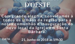 Reunião de entremesclar microrregional – Santa Bárbara d'Oeste – 21/06/2018, quinta-feira, às 19:30h